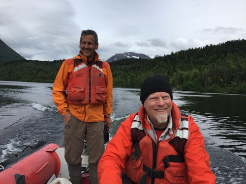 Darrell Kaufman and Scott Anderson happy to be on the water at Pothole Lake